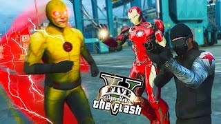 GTA 5 PC - Reverse Flash VS Iron man And Winter Soldier ! (Ultimate Flash Mod Gameplay)