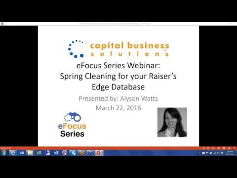 eFocus Series: Spring Cleaning For Your Raiser's Edge Database