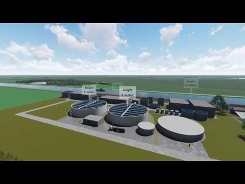 3D-animatiefilm nieuwbouw waterzuivering