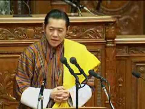 HM King of Bhutan, Japan National Assembly speech, 17 Nov 2011 ブータン国王陛下 日本国会演説