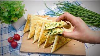 10 МИНУТ НА ВСЁ ПРИГОТОВЛЕНИЕ! Самые ВКУСНЫЕ пирожки БЕЗ ТЕСТА с яйцом и зеленым луком!