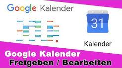Gmail Kalender freigeben einrichten I Google Kalender gemeinsam nutzen