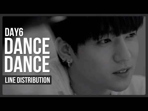 DAY6 - Dance Dance Line Distribution (Color Coded)