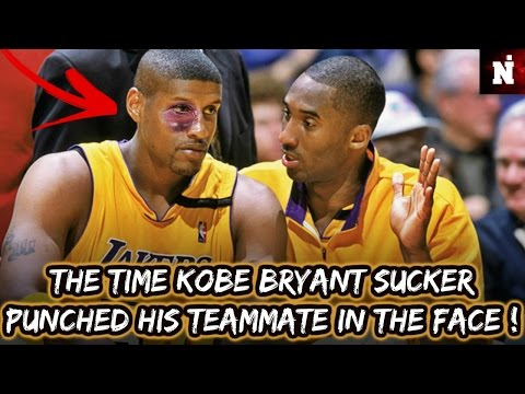 The Time Kobe Bryant Sucker Punched His Teammate In The Face !