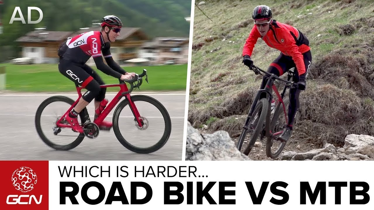 Road Bike Vs Mountain Bike Which Is Harder Youtube