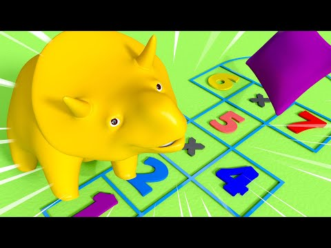 Back to School Special- Play Playground Games with Dino and Dina and learn numbers