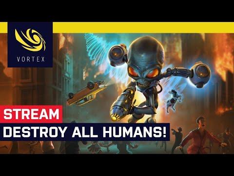 Hrajeme živě Destroy All Humans! Mimozemšťané si přišli pro mozky pozemšťanů