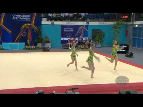 AUSTRALIA 2 Women's Groups - Combined Qualifications  -- 2014 Acrobatic Worlds, Levallois (FRA)