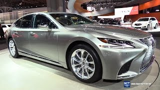 2018 Lexus LS 500h AWD - Exterior and Interior Walkaround - 2017 New York Auto Show