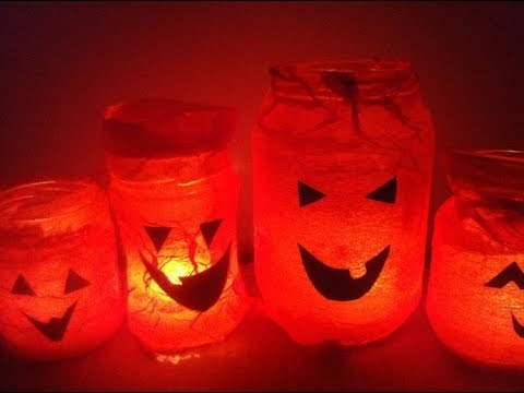 how to make halloween lanterns with glass jars - How To Make Halloween Lanterns