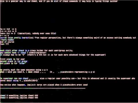 Linux basics in command line, How to use (Part II .3 of .3)(t00)