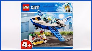60206-New Lego City Sky Police Jet Patrouille Building Set