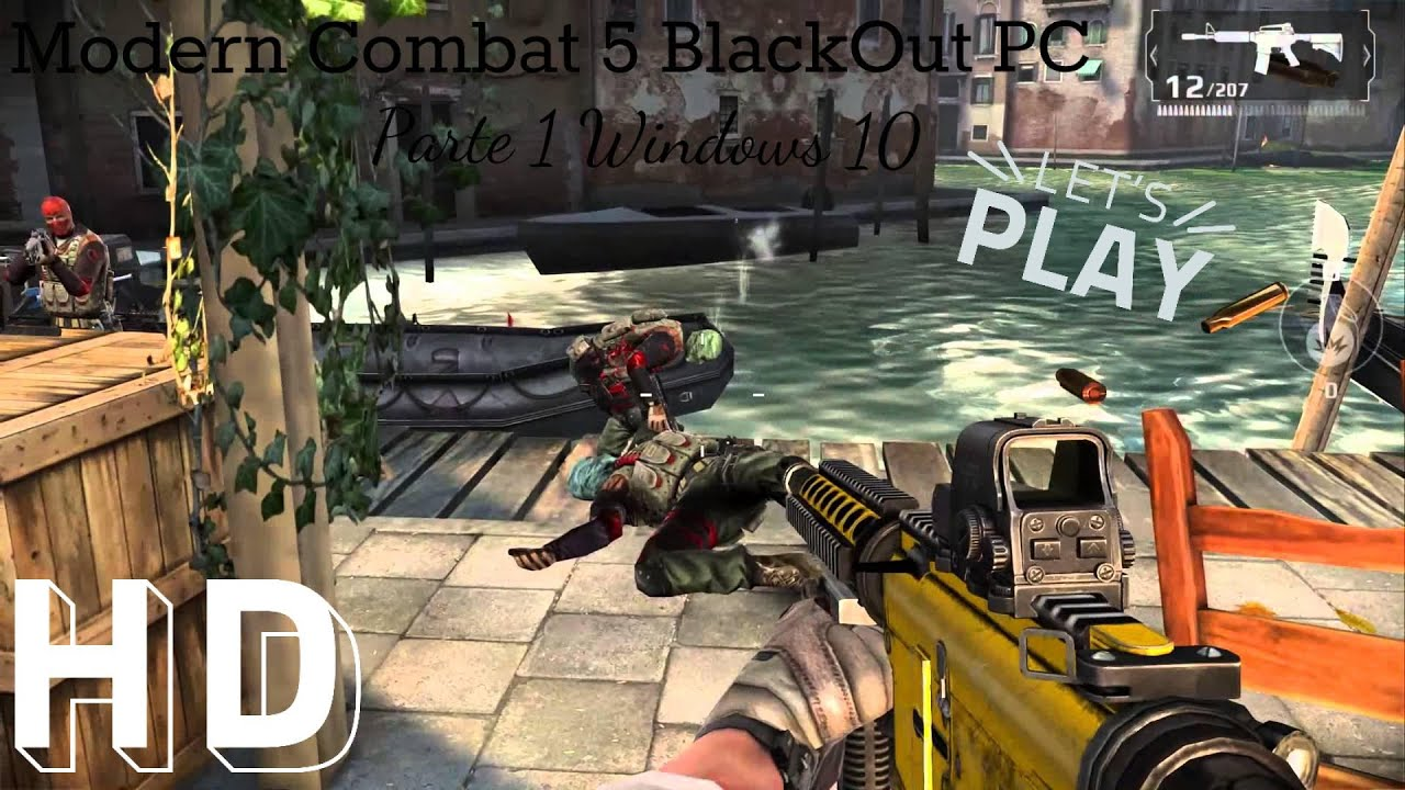 how to play modern combat 5 on pc