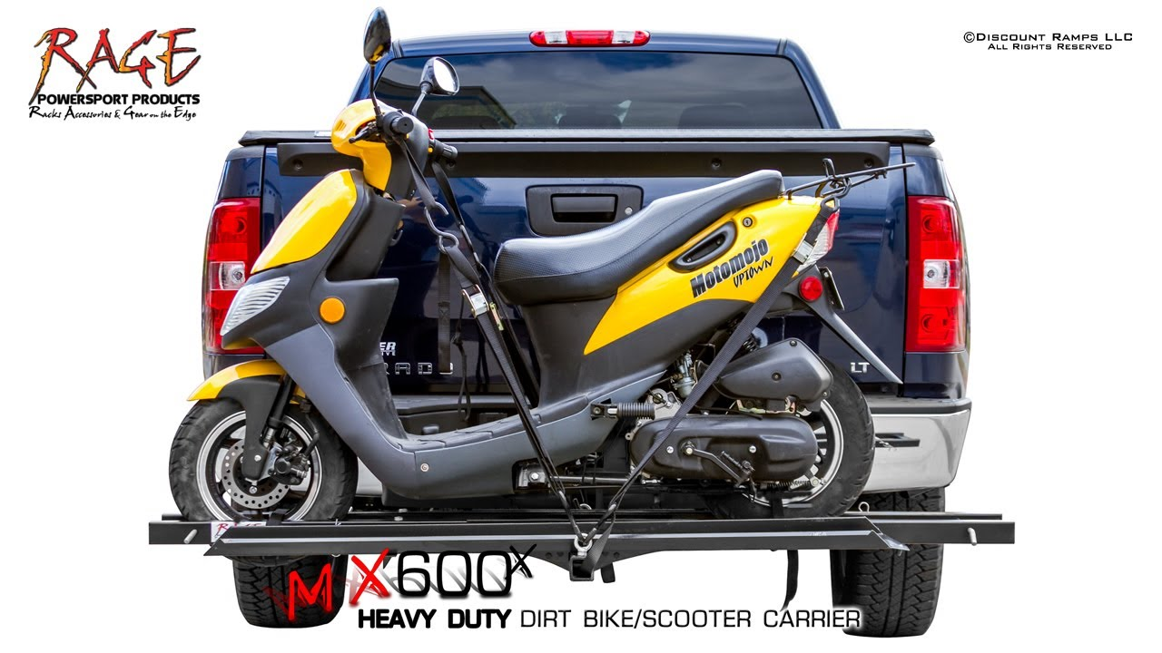 Mx 600x Scooter Dirt Bike Hitch Carrier Assembly Youtube