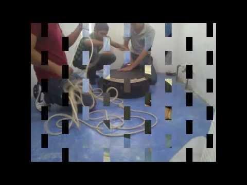 MESA DE CENTRO CON MATERIAL RECICLADO - YouTube