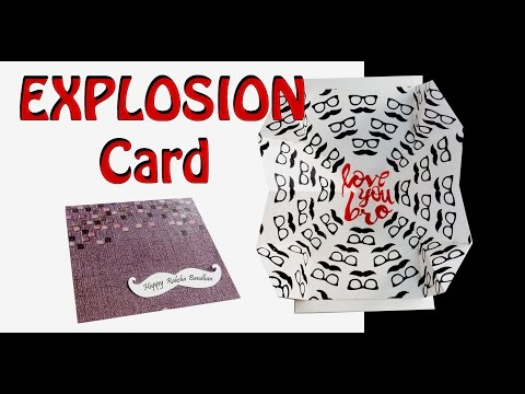 How to make Explosion card- Brother's special