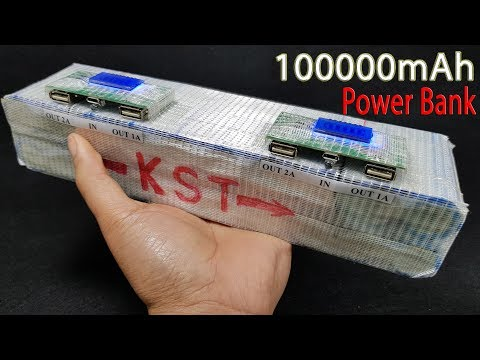 How to Make a 100000 mAh Power Bank from Old 26650 Battery