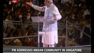 PM Modi in Singapore: Address to Indian Diaspora