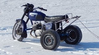 Зимний дрифт 2014. Трицикл на базе ИЖ-Юпитер./Winter Drift 2014. Tricycle based on IL-Jupiter.