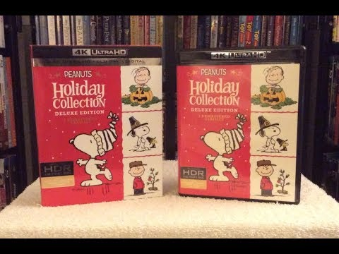 Peanuts Holiday Collection 4K BLU RAY UNBOXING    UHD