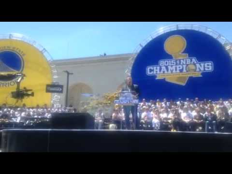 Warriors Parade Rally Oakland Intro