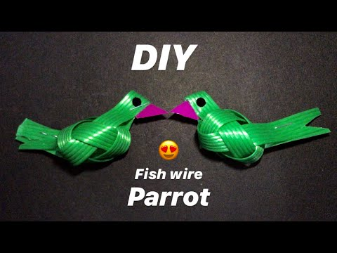 How To Make Parrot With Fish Wire | Easy Handicrafts | DIY