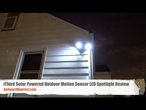 Ithird Solar Powered Outdoor Motion Sensor Led Spotlight