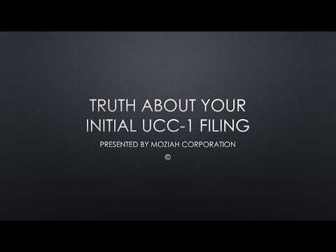 TRUTH ABOUT WHERE TO FILE YOUR UCC 1 FINANCING STATEMENT