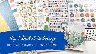 Hip Kit Club September Unboxing - Main Kit