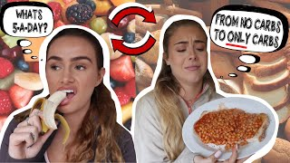SWAPPING DIETS WITH MY BFF FOR 24 HOURS | Syd and Ell