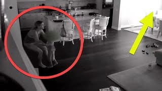 Nanny Hears Noise Upstairs , So Dad Checks Hidden Camera And Captures A Nightmare In His Kitchen