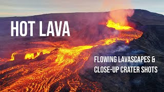 Inside the HUGE LAVA LAKE - Mesmerizing MIX of Flowing Lava & Crater by Drone of Iceland's Volcano