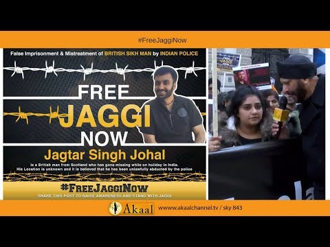 PROTEST For Jaggi #freejagginow at FCO LONDON | Lady Speaks | Akaal Channel