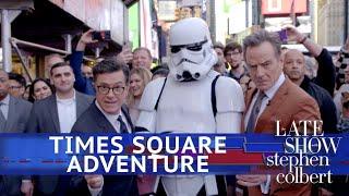 Stephen & Bryan Cranston's Times Square Adventure