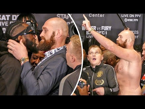 TOTAL CHAOS!! Deontay Wilder vs. Tyson Fury FACE OFF in Los Angeles