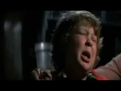 The Goonies -  Chunk confesses to the Fratellis.