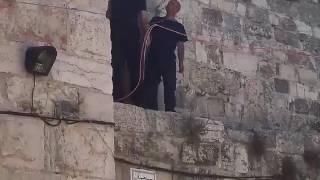 بالفيديو: الاحتلال الإسرائيلي يركب بوابات إلكترونية على أبواب الأقصى