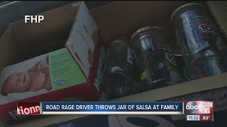 9-year-old calls out road rage driver who smashed a salsa jar into her mother's car