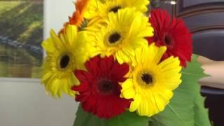 Букет своими руками пошагово из живых цветов
