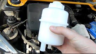 Как установить бачок гидроусилителя от волги на ваз 2110