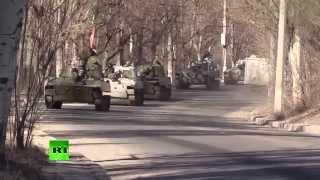 Ополчение отвело тяжелую технику из Еленовки в Донецк thumbnail