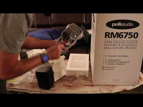 Polk Audio RM6750 5.1 Home Theatre Speaker Unboxing & review