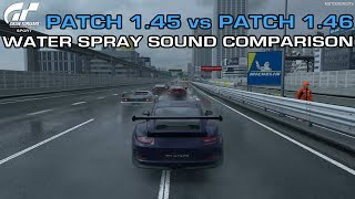 Gran Turismo Sport - Water Spray Sound Comparison - Patch 1.45 vs Patch 1.46