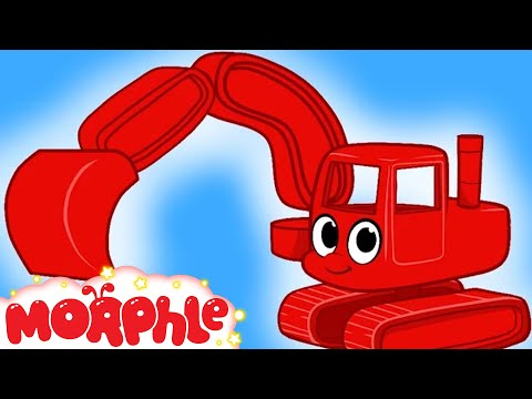 My Red Digger --  Diggers for Children + 2 hour compilation by My Magic Pet Morphle Kids tv Show