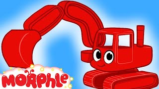 My Red Digger --  Diggers for Children by My Magic Pet Morphle Kids Show