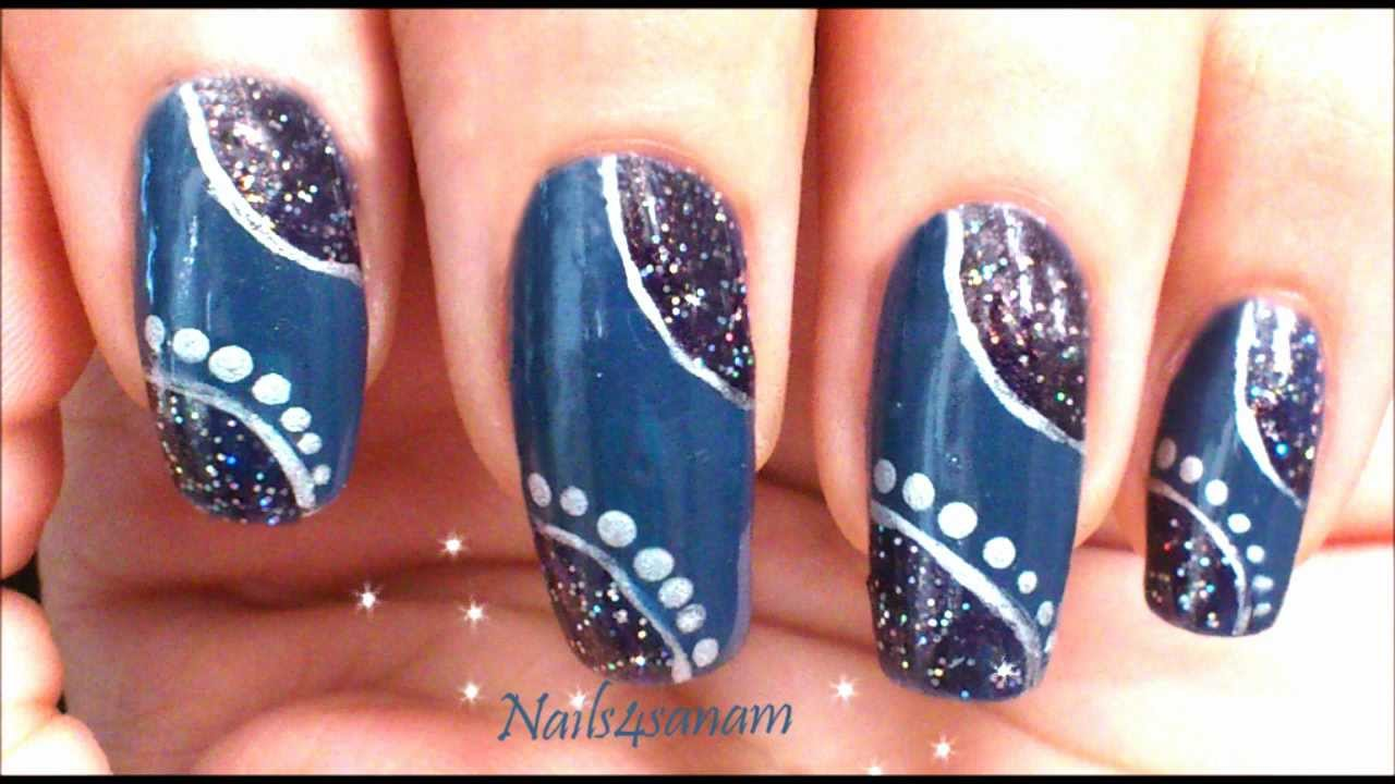 Easy Nail Art Design Step By Step Video Youtube