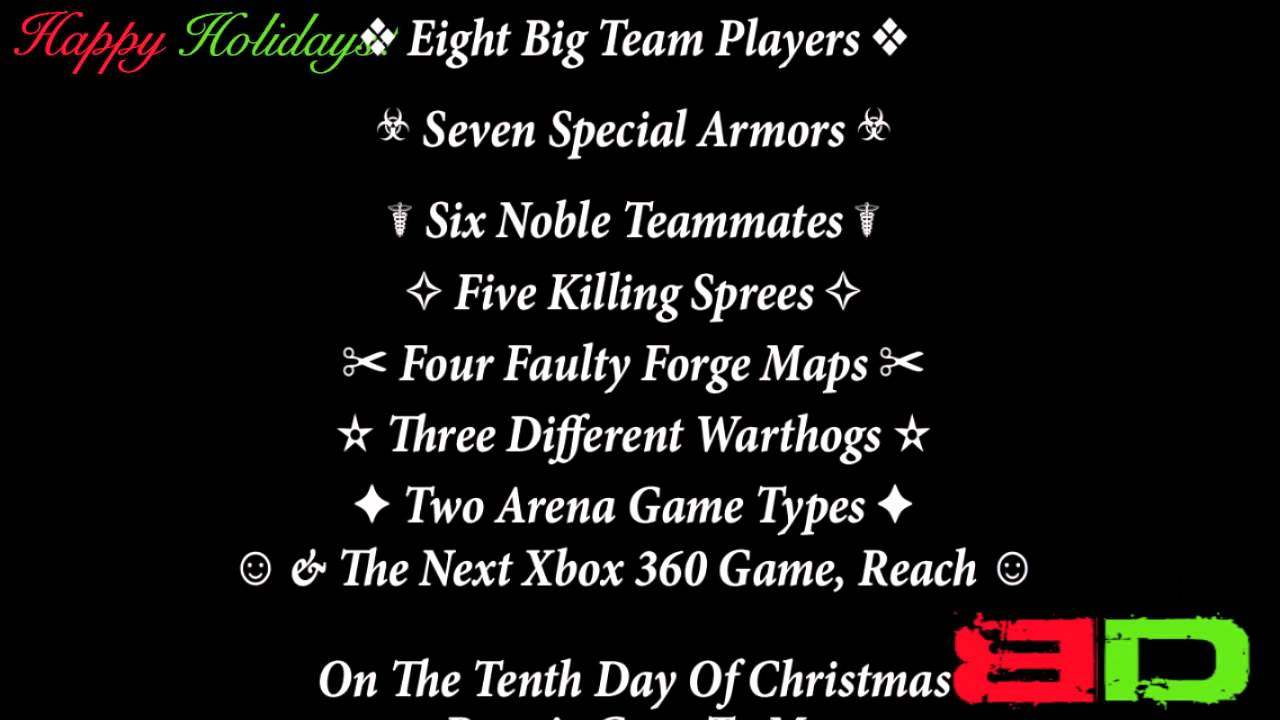 12 bungie days of christmas borderline disaster halo reach - 12 Days Of Christmas Remix