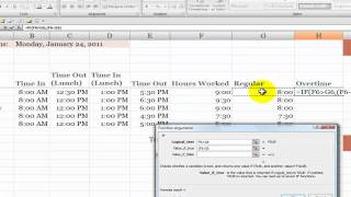 How to Calculate Overtime Hours on a Time Card in Excel screenshot 5