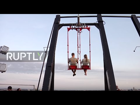 Netherlands: Europe's highest swing opens in Amsterdam