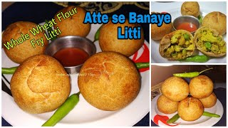 Quick Fry Litti Recipe Aloo Gobhi Matar Litti Recipe  Winter Special Breakfast  Snacks Recipe